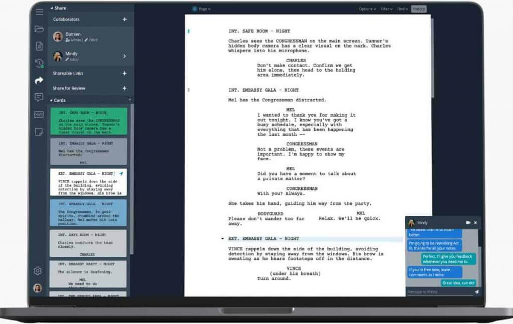 Writer duet formato de guion